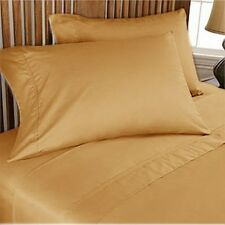 1200TC 100%Egyptian Cotton Complete Bedding Items US Sizes Color Gold Solid