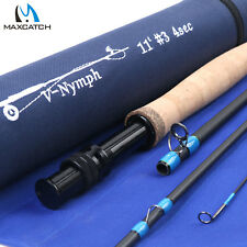 2WT 3WT 4WT Nymph Fly Fishing Rod 10' 11' 4Sec Graphite IM10 Fast Action