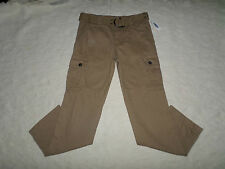 OLD NAVY BELT CARGO PANTS MENS SIZE 29X30 LIGHT BROWN ZIP FLY NEW WITH TAGS