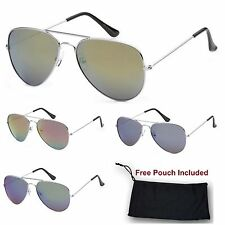 Unisex Men Women Air Force Retro Pilot Aviator thin Rim Metal Frame Sunglasses