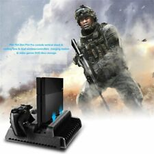 3 in1 Cooling Stand Fans+2 Charging Station for PS4/PS4 Pro/PS4 Slim consoles WW