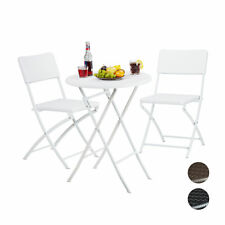 Garden Furniture Set, 3-Piece Set in Rattan Look, 1 Table & 2 Patio Chairs