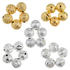 50pcs 10mm Spacer Loose Beads DIY Jewelry Making Copper Beads with 2mm Hole