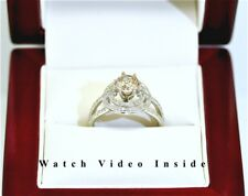 Real Solid 18K White Gold 1.55 Ct Diamond Engagement Ring