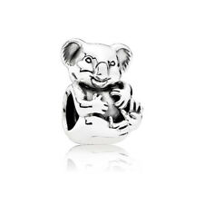 Original Authentic Solid Sterling Silver Koala Bead Charm fit European Bracelet
