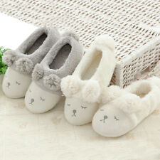 Winter Cartoon Sheep House Slippers Anti-Slip Cashmere Indoor Floor Shoes Clever
