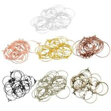 20Pcs 25mm Round Beading Hoop Earrings Hook Connectors DIY Jewelry Findings