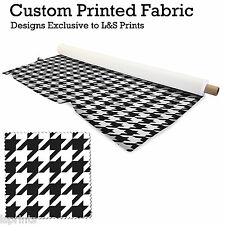 BLACK & WHITE DOG TOOTH PRINTED FABRIC JERSEY SPANDEX FROM PER METRE