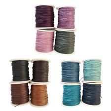4 Roll 1 mm Waxed Cotton Cord Thread Braided String for DIY Beading Craft Making