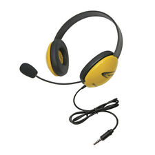 Califone 2800-YLT Headset with To Go Plug, Yellow, For Use With Smartphones and