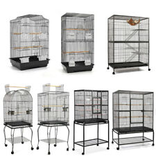 Large Metal Bird Cage Cat Ferret Hamster Rat Parrot Aviary Budgie Perch Wheels