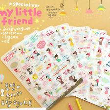 6sheets My Little Friend Sticker Kawaii Paper Stickers for Kids Decoration .