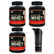Whey Protein Deal 3 x 2.27kg Optimum Nutrition 100% Gold Standard - FREE Shaker