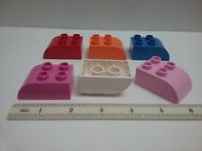 Lego Duplo 2302 2302pb04 Brick 2x3 with Curved Top