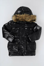 DIESEL new Kids Child Boy Down Jacket JOVVY With Faux Fur NWT