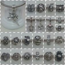 ~ Antique Silver Clear Rhinestone Charms ~ FOR CHARM BRACELETS ~ Gift Bag ~