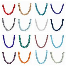 Wholesale 30/100Pcs 6x8mm Rondelle Faceted Crystal Glass Loose Beads DIY Finding