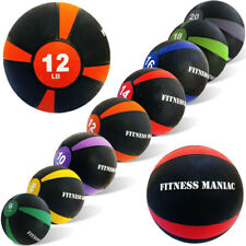 Weighted Medicine Ball Fitness Exercise Muscle Body Workout 8 10 12 14 16 lbs