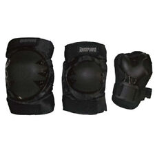 Roller Skate Skating Scooter Cycling KNEE ELBOW PALM Protective Gear Pad - Black