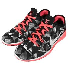 Wmns Nike Free 5.0 TR Fit 5 Print Black White Womens Training Shoes 704695-006