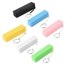 Portable Mobile Power Bank USB Charger Key Chain case for Phone (No Battery) W#