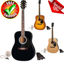 "Acoustic Guitar 41"" Full Size Kit Gibson Beginners Youth Strap Pick String Set"