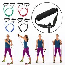 Resistance Tube Set Home Gym Fitness Exercise Workout Heavy Handles Yoga Band KZ