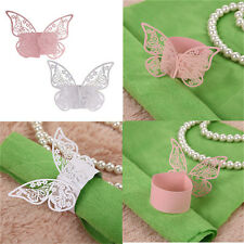 50Pcs Butterfly Napkin Ring Paper Holder Table Party Wedding Favors BanquetBLBD
