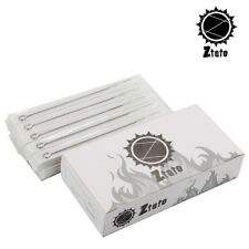 50 Disposable Sterile ZTATO Stainless Steel Tattoo Needles RL RS F M1 M2 RM Size