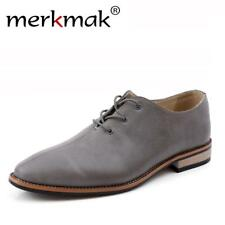 Trendy Brand Leather Shoes Men Oxfords Dress Shoes Luxury High Quality Mens Flat