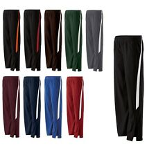 LADIES BRUSHED POLY/TRICOT WARM UP PANTS, STRAIGHT LEG w/ZIPPERS, POCKETS XS-2XL