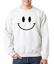 New Way 849 - Crewneck Smiley Face Emoticon Emoji Happy Smile