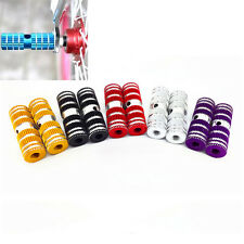 """2pcs Cycling BMX Bike Bicycle Cylinder Aluminum Alloy 3/8"""" Axle Foot Pegs BH"""