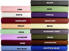 1000TC EGYPTIAN COTTON 1 PC BED SKIRT/VALANCE STRIPE ALL COLOR AU QUEEN SIZE.