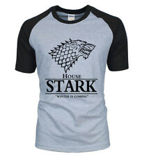Winter is Coming Stark House Game of Thrones T Shirt Tee Top Tank Wolf White