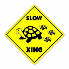 Slow Turtle Crossing Sign Zone Xing lover animal sea box snapping