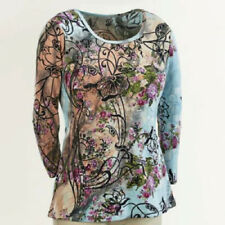 Seventh Avenue Flowers At Sunrise Top blouse shirt size 2X plus pink floral tee