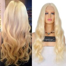 Blonde 100% Brazilian Human Hair Wig Lace Front Wig Pre Plucked Wavy Straight Tw