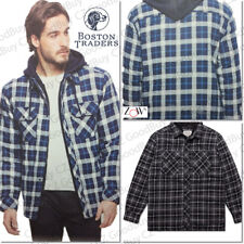 Men's Boston Traders Hooded Flannel Shirt / Hoodie / Jacket -Quilted NWT