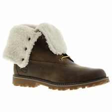 Timberland Authentic 6 Waterproof Shearling Dark Brown Youth Leather Boots""