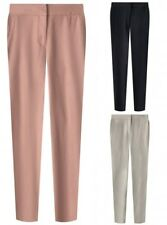 New M&S Ladies Casual Linen Summer Trousers Size 6 - 20 Navy Beige Pink