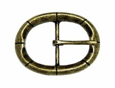 """Oval Single Prong Center Bar Replacement Belt Buckle 1-1/2"""" (38mm) wide"""