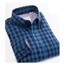 Men Casual Wear Long Sleeved Cotton Fabric Plaid Pattern Slim Fit Shirt