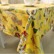 New Style Floral Pattern Cotton Fabric Home Party Decor Tablecloth