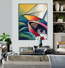 Original Abstract Modern Contemporary Art Painting Stretched Canvas Wall Decor