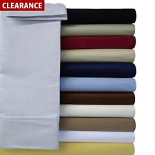 Exceedingly Soft Wrinkle-Free Cotton Blend 600 Thread count Solid Sheet Sets