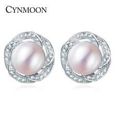 Earrings Jewelry Pearl Stud Natural CYNMOON Cultured Freshwater for Mother