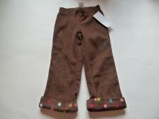 Gymboree Winter Cheer Brown Fleece Pants Colorful Dots 6-12-18-24 mos NEW