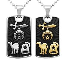 Stainless Steel Dog Tag Pendant Ball Bead Chain Necklace - Black Dog Tag