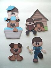 3D-U Pick-Fa5 Family Boy Girl Mothers & Fathers Day Card Scrapbook Embellishment